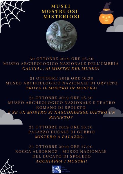 <!--:it-->HALLOWEEN 2019 | ACCHIAPPA I MOSTRI!<!--:--> @ Rocca Albornoz - Museo Nazionale del Ducato di Spoleto