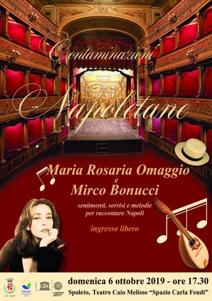 <!--:it-->Contaminazioni napoletane - Sentimenti, sorrisi e melodie per raccontare Napoli | con Maria Rosaria Omaggio e Mirco Bonucci<!--:--> @ Teatro Caio Melisso - Spazio Carla Fendi