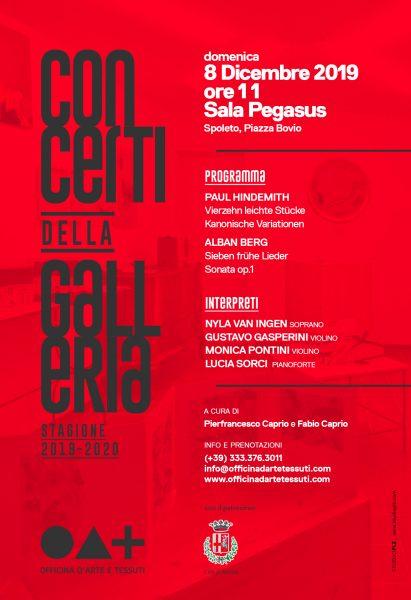 <!--:it-->***ANNULLATO*** Concerti della Galleria | Stagione 2019/2020 <!--:--><!--:en-->***CANCELLED*** Gallery Concerts - 2019/20 Season<!--:--> @ Cinéma Sala Pegasus