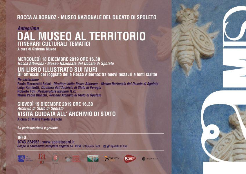 <!--:it-->UN LIBRO ILLUSTRATO SUI MURI | Gli affreschi del loggiato della Rocca Albornoz tra nuovi restauri e fonti scritte<!--:--><!--:en-->A PICTURE BOOK ON THE WALLS<!--:--> @ Archivio di Stato sez. Spoleto - Largo Ermini