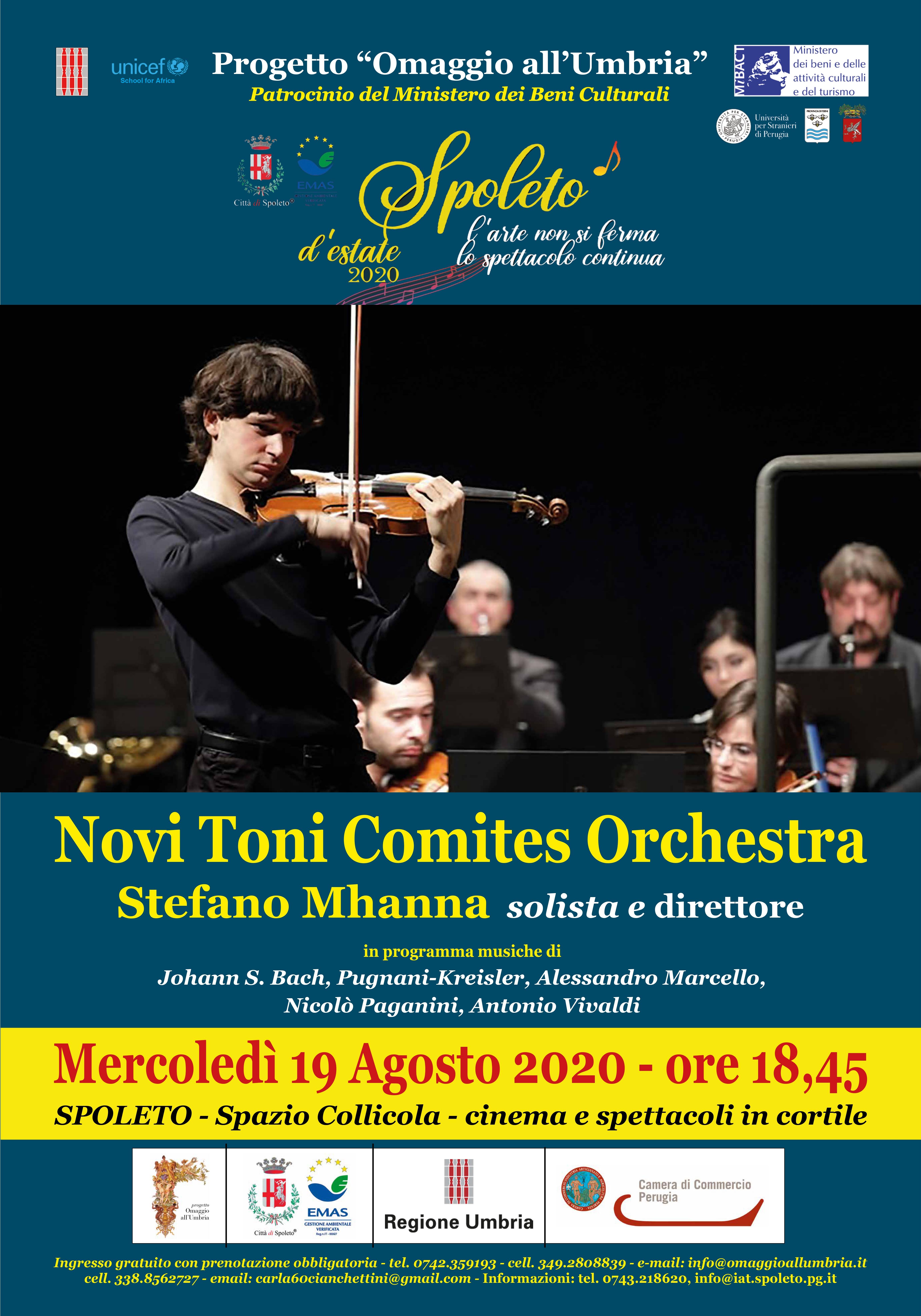 <!--:it-->Concerto STEFANO MHANNA con NOVI TONI COMITES ORCHESTRA<!--:--> @ Spazio Collicola