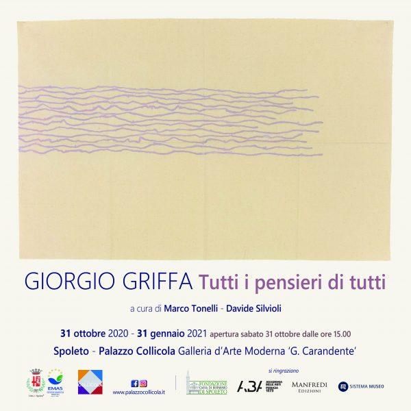 <!--:it-->MOSTRA | Giorgio Griffa: Tutti i pensieri di tutti<!--:--> @ Palazzo Collicola