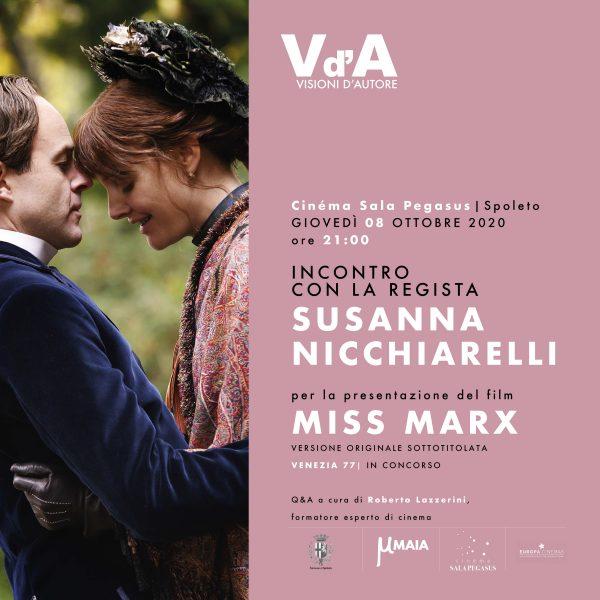 "<!--:it-->Visioni d'Autore | Incontro con Susanna Nicchiarelli, regista di ""Miss Marx"" <!--:--> @ Cinéma Sala Pegasus"