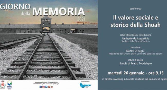 <!--:it-->GIORNO DELLA MEMORIA | CONFERENZA Il valore sociale e storico della Shoah<!--:--> @ in streaming