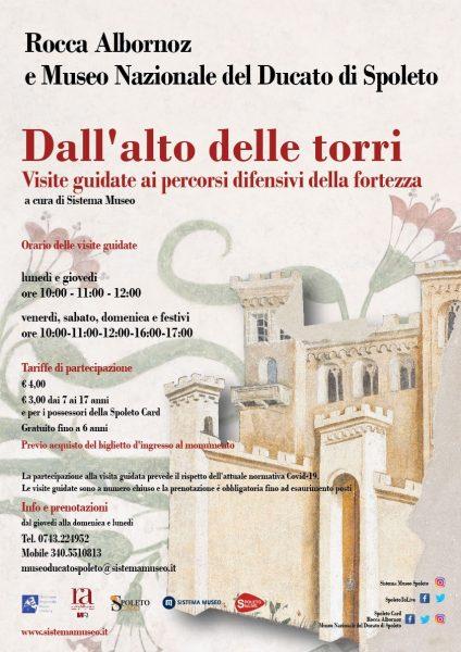 <!--:it-->DALL'ALTO DELLE TORRI | Visite guidate ai percorsi difensivi della fortezza<!--:--><!--:en-->FROM ABOVE THE TOWERS |  Guided tours of the defensive walkways of the fortress<!--:--> @ Rocca Albornoz - Museo Nazionale del Ducato di Spoleto