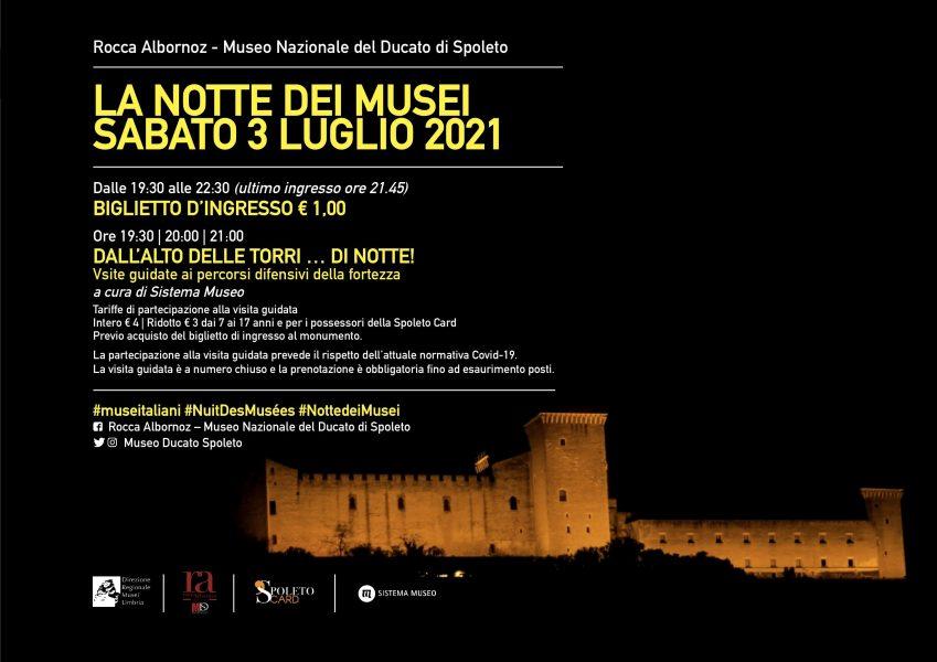 <!--:it-->LA NOTTE EUROPEA DEI MUSEI | Apertura straordinaria e visite guidate alla Rocca Albornoz<!--:--> @ Rocca Albornoz - Museo Nazionale del Ducato di Spoleto