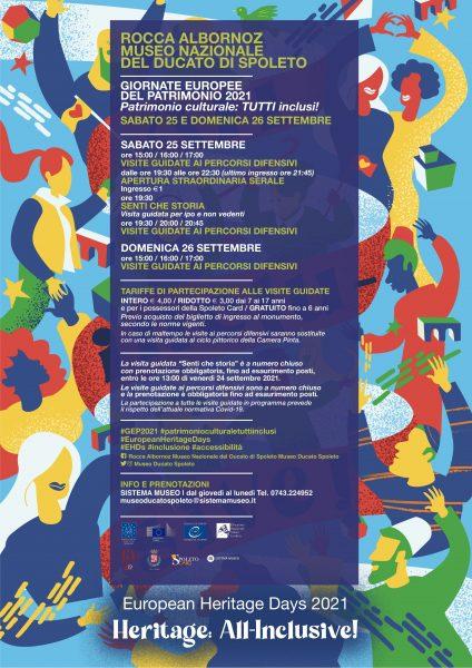<!--:it-->GIORNATE EUROPEE DEL PATRIMONIO | Apertura straordinaria ed eventi speciali alla Rocca Albornoz - Museo Nazionale del Ducato<!--:--><!--:en-->EUROPEAN HERITAGE DAYS | Extraordinary opening and special events at Rocca Albornoz <!--:--> @ Rocca Albornoz - Museo Nazionale del Ducato di Spoleto